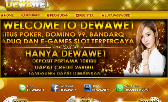 DewaWE1 Situs Poker Domino Online Terpercaya Di Indonesia