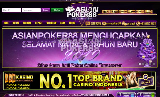 Asianpoker88 Situs Judi Poker Online Terpercaya