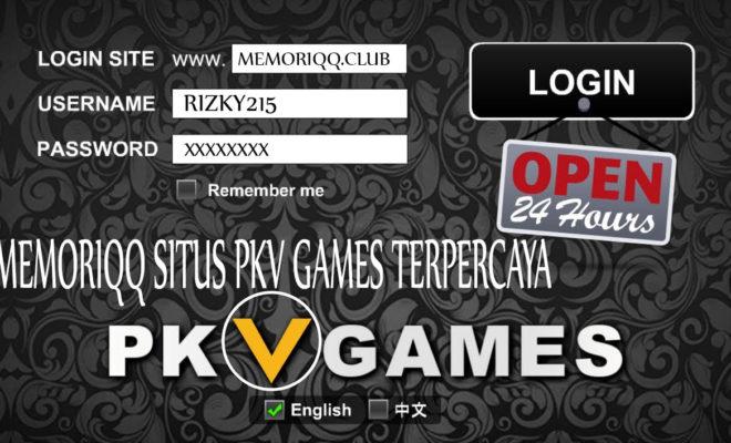 Login Site MemoriQQ Situs PKV Games Terpercaya